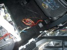 Showing the wiring harness for video and power fed directly from the car battery